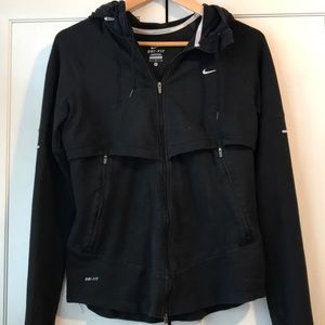 Nike dri-fit running coat sweatshirt zip up jacket